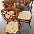 Trio de chaises type