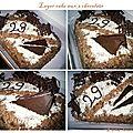 Layer cake aux 3 chocolats