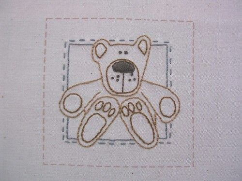 Simple Stitchings - Bear in there