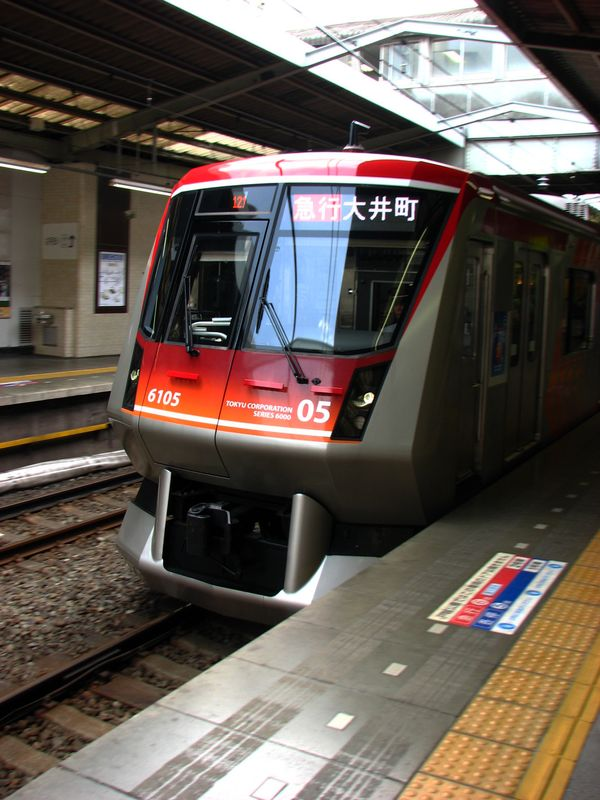 Tôkyû 6000 (6105) since 2008 Ôimachi line, Jiyûgaoka eki