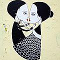 Street art Belleville, Fred le Chevalier, rue des cascades