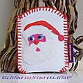 father xmas mobile phone holder a
