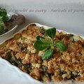 Crumble de poulet haricots verts curry