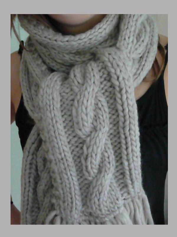 tricoter une echarpe avec motif
