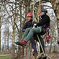 Formation grimpeur secouriste du travail (assistance au blessé dans l'arbre) avec l'ami salim, les 20,21 et 22 février 2018.
