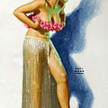 <b>Pin</b>-<b>Ups</b> Blondes Hawaïennes de Earl Moran