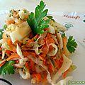 Salade de crudites au jus d'orange et gingembre frais