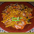 Salade poivron-maïs-<b>surimi</b>