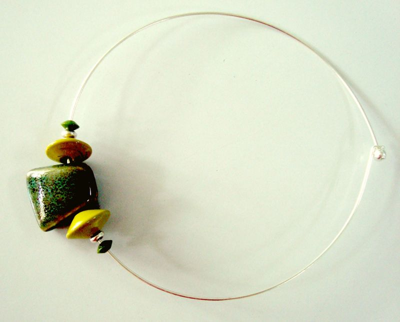 collier ceramique vert