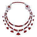 <b>Art</b> Deco ruby and diamond necklace, Cartier