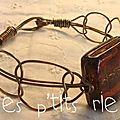 bracelet façon macramé fil métal bronze