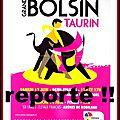 Le <b>Bolsín</b> <b>Taurin</b> de Nîmes Métropole reporté pour cause d'anti !!