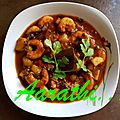Chingri Aloo Jhal - <b>Bengali</b> Prawn & Potato Curry