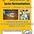 Conférence à chauconin neufmoutiers : la lacto-fermentation