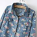 New-Summer-Fashion-two-Pockets-Floral-Print-Long-Sleeves-Denim-Shirt-for-Women-DS-0006