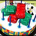 P'tit gâteau lego (fraisier et briques carambar)