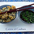 Tempura d'escargots de bourgogne & condiment asiatique épicé