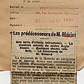 L'ARGUS DE LA PRESSE . <b>1909</b> .LE PEUPLE FRANCAIS.