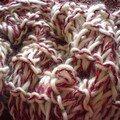 Une écharpe au tricot-doigt...