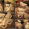 Pochettes en papier écriture