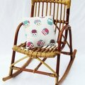 Rocking chair enfant bambou caramel