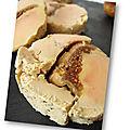 Foie gras de canard aux figues cuisson au sel