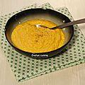 Veloute de carottes et lait de coco