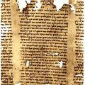 La Jordanie réclame les <b>manuscrits</b> de la mer Morte exposés au Canada