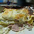 Lasagnes aux courgettes et au jambon