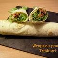 Wraps au poulet tandoori