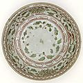 Dish, Vietnam, 15th century-16th century, stoneware with red and green enamel decoration, 24