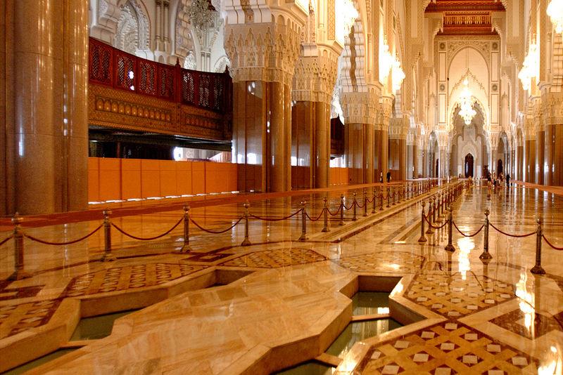 Inside Mosquee Hassan 2 Casablanca
