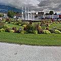 Rond-point à Aix-les-Bains