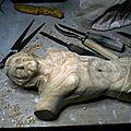 Fu sculpteur - Christ bois cèdre 70cm