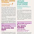 Programme du 16 août pour le festival de l'écho des mots