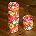 Un tube en carton= une boîte chinoise