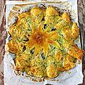 Flop : la tarte <b>soleil</b> courgette, chèvre, olives, romarin