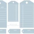 Etiquettes gratuites à télécharger et à imprimer pour le scrapbooking : tags bleu