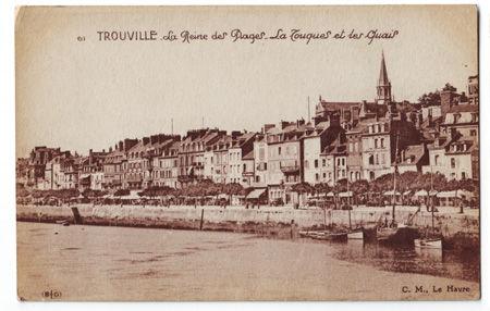 14 - TROUVILLE - La Touques et les quais