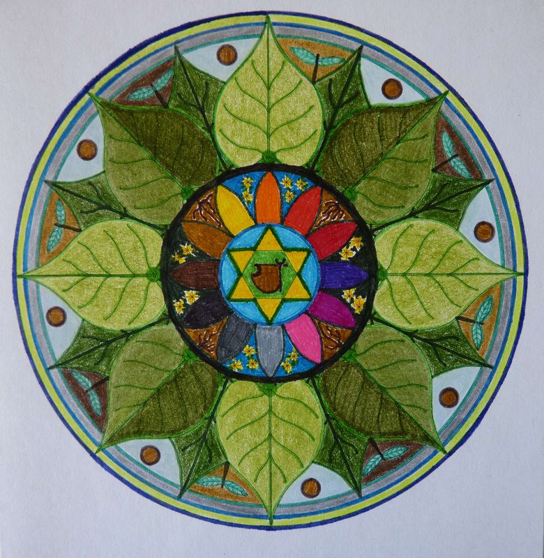Mandala MORGANE 8 NATURE détail dec-jvier 2012 013