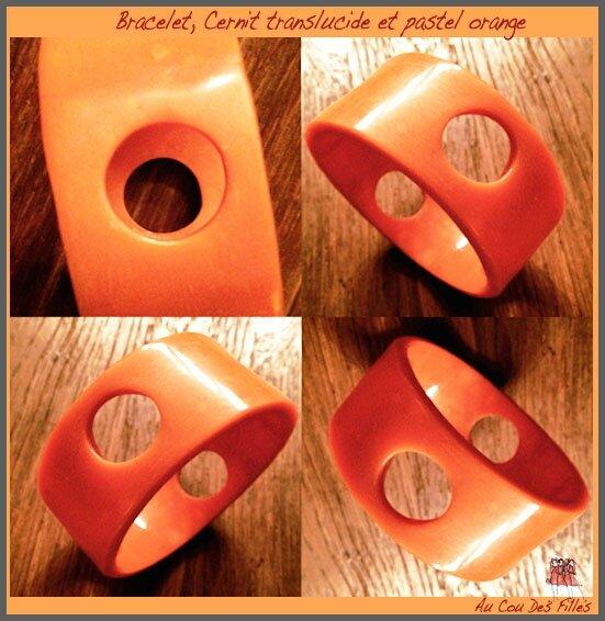 Bracelet Cernit Translucide orange