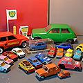 Une collection de Renault 5 de toutes tailles ! Des miniatures vintage, sauf exception !