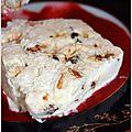 Le nougat glacé pour votre dessert de réveillon