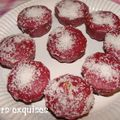 Muffins framboise au coeur coulant de chocolat blanc