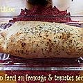 Pain farci au fromage & tomates sechees