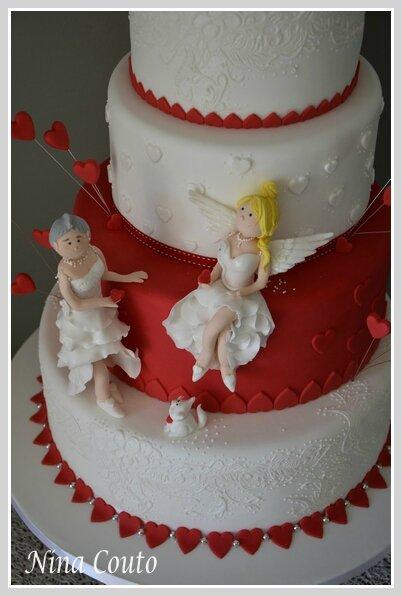 wedding cake nina couto rouge et blanc2