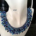 Collier fireworks necklace bleu