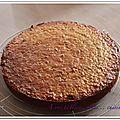 Gâteau butternut, pommes et raisins secs.