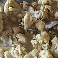 Curry de choux fleurs et colin