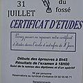 Passage du certificat d'étude dans l'école d'autrefois de saint jean saint nicolas